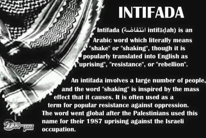 Intifade against Israeli oppression