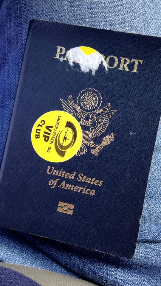 VIP sticker - flying to Palestine